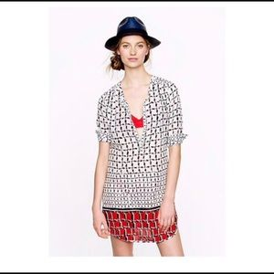 🚨SALE J.Crew Cotton Voile Houndstooth Tunic